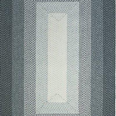 French Braid Rug Gray