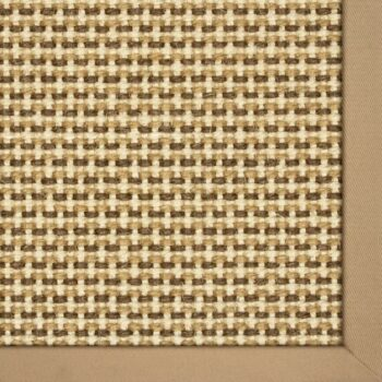 Karastan Basketweave Sisal Neutral Tri Color